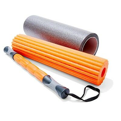 Foam Roller 3-in-1 Physio Pilates Yoga Gym Exercise Trigger Point Injury Massage
