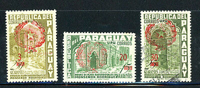 Paraguay Scott # 548, 550, 551   MH  -- Great Stamps