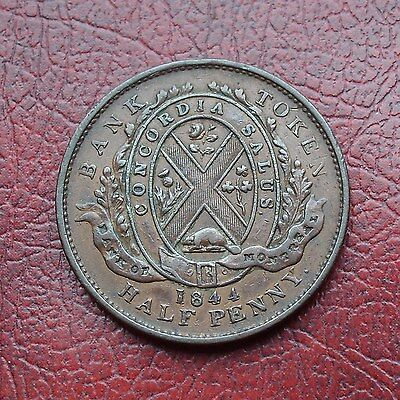 Lower Canada 1844 copper halfpenny