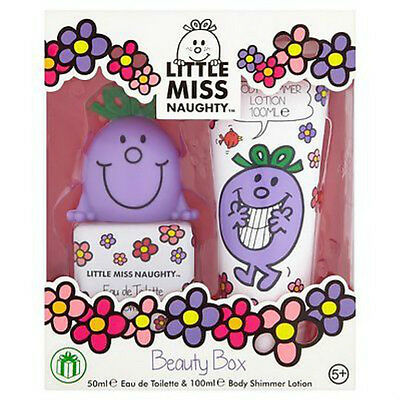 Little Miss Naughty Girls Beauty Box Gift Set -  50ml EDT & 100ml Body Shimmer