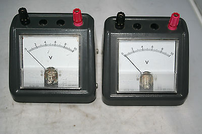Lot 2 Voltmeter Educational Bench Top Rs 258-934