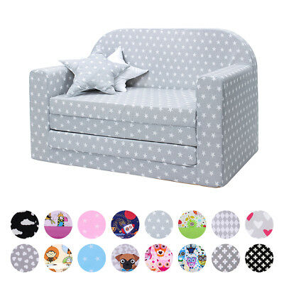 LULANDO Classic Kindersofa Kindersessel Kindercouch Sofa Bettfunktion Möbel