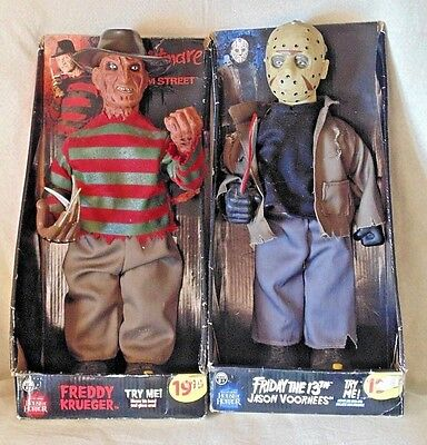 "HOUSE OF HORRORS - 14"" Talking Moving  Freddy Krueger & JASON VOORHEES"