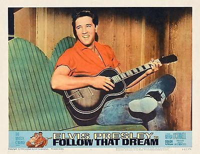 ELVIS PRESLEY Playing His Guitar In FOLLOW THAT DREAM 11x14 LC print 1962