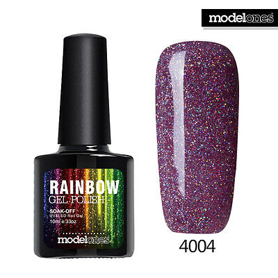 Modelones 10ML Soak Off UV LED Rainbow Neon Glitter Shellac Gel Nail Art Polish