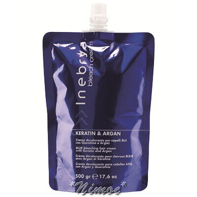 Blue Bleaching Hair Cream Keratin & Argan 500ml Inebrya ® Crema Decolorante Blu