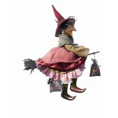 Witches of Pendle - Althea Witch Flying (Burgundy) 50cm