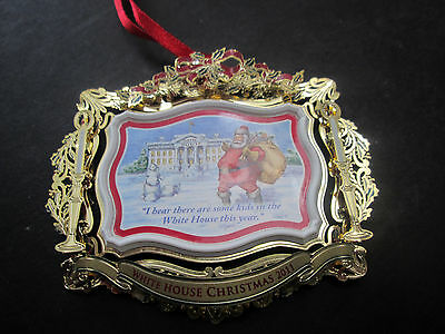 2011 The White House Historical Assoc Christmas Ornament Brass 327