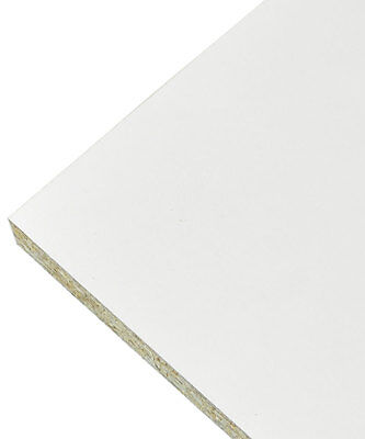 White Melamine Faced Chipboard Conti Furniture Board - 2.4m Length