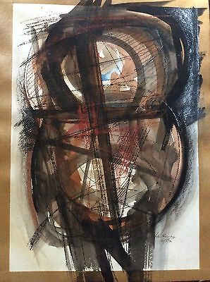 Peter Thursby Original Mixed Media On Paper Signed Dated 1990 Coloured Design