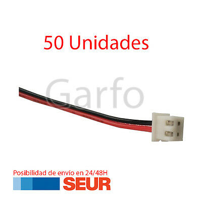 50X Conector 2 Pines Hembra con Cable