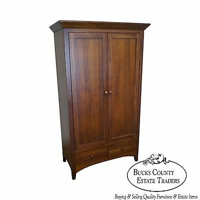 Ethan Allen American Impressions Solid Cherry Armoire Cabinet