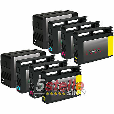 Kit 8 Cartucce Hp 932 Xl 933 Xl Per Officejet 7510A 7610 7612 Reman