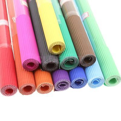 Roll of Colored Corrugated Scrapbooking Paper DIY Handmade Crafts Embellishments