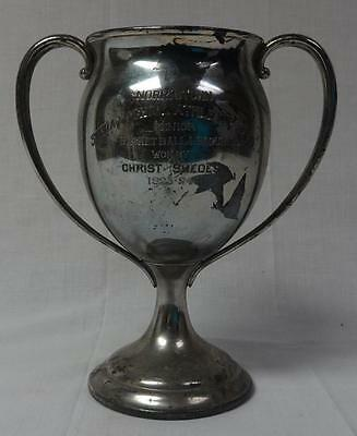 Beautiful old Norristown PA 1923 basketball loving cup trophy! Christ Swedes!