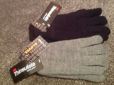 Childrens Thinsulate Thermal Knitted Gloves age  6 to 13 FREE P&P