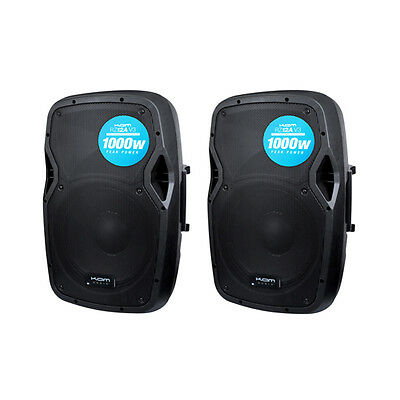 CLEARANCE - PAIR OF KAM RZ12A V3 ACTIVE SPEAKERS 1000w PEAK each