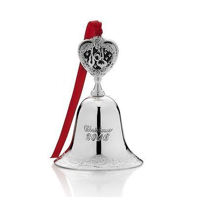New WALLACE 2016 Silver-Plated Christmas Bell Ornament 22nd Ed Grande Baroque