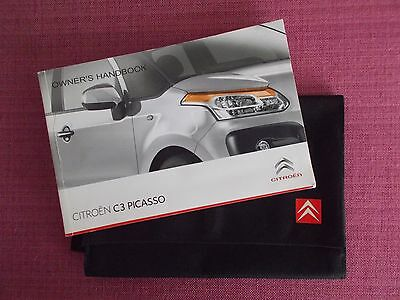 Citroen C3 Picasso Owners Manual - Owners Guide - Owners Handbook.(Ci 496)