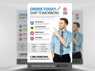 1000 5.5 x 8.5 full color double sided flyers printing service
