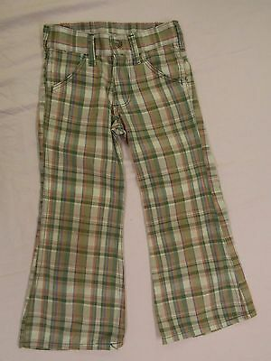 Vintage Toughskins Plaid Pants Boys Girls Kids Pants Size 6 Slim INV#0762