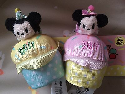 New Disney Mini Mickie And Minnie Mouse Tsum Tsum Pink And Blue Scented Cupcake