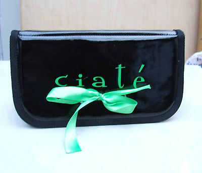 Fabulous High Gloss Black Little Evening Bag with CIATE & Green Ribbon FREE Post