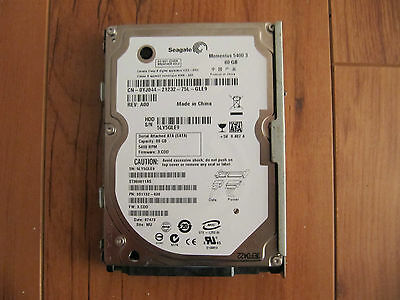 Original PS3 80 GB Hard Drive with CECHE01 Caddy Tested Playstation 3