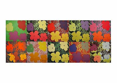 Andy Warhol - Complete set of 10 Flowers - Limited Edition