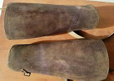 Vintage Half Chaps Horse Riding Equestrian leather