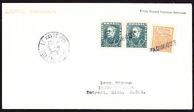 Brazil Brasil stamps on 1956 Paquebot cover with Le Havre France postmark to USA