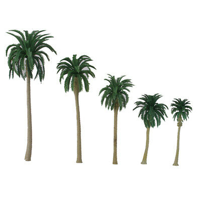 15pcs Model Coconut Palm Tree Train Beach Coast Scenery HO O N Scale 7-16CM