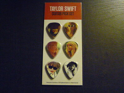 TAYLOR SWIFT - Guitar Pick Set of 6 Red Tour 2012  NEW