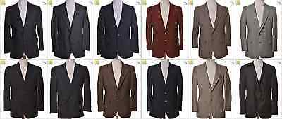 """JOB LOT OF 19 VINTAGE MEN""""S JACKETS- Mix of Era's, styles and sizes (17979)*"""