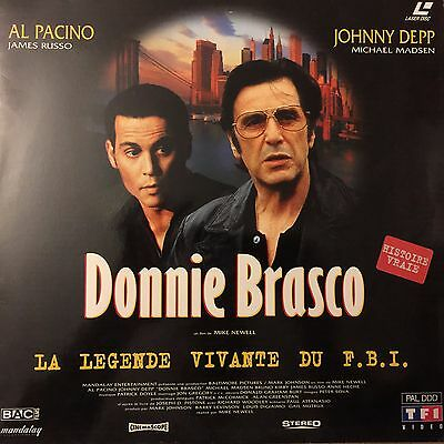 DONNIE BRASCO WS VF PAL LASERDISC Al Pacino, Johnny Depp, Michael Madsen