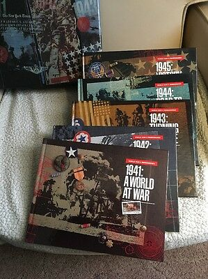 US Boxed World War II Remembered = Set Of 5 Books & Stamps