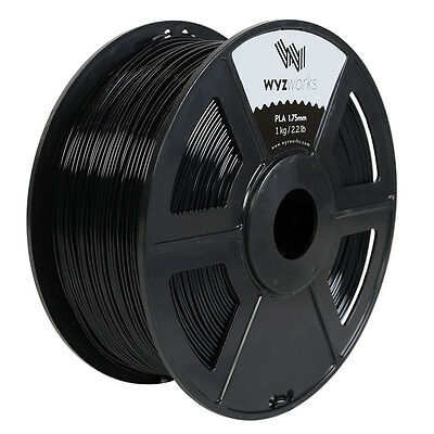 WYZwork 3D Printer Premium PLA Filament 1.75mm 1kg/2.2lb Black