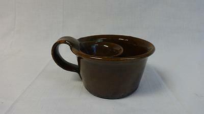Rare Antique Redware Shaving Mug w/Steep Handle Nest Form Pa. or MD. Minor Wear