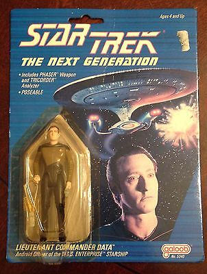 "Star Trek The Next Generation 1988 4"" Data action figure Unopened by Galoob"