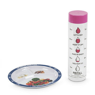 World Slimming Weight Loss Diet Plate Portion Control Increment Bottle Kit