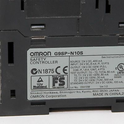 Omron G9Sp-N10S Safety Controller
