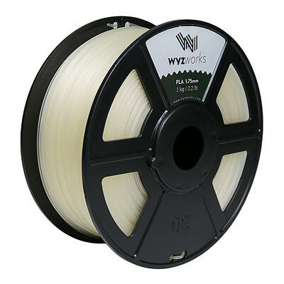 WYZwork 3D Printer Premium PLA Filament 1.75mm 1kg/2.2lb Clear