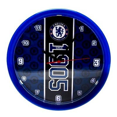 Chelsea Fc Official Crested Wall Clock (New And Boxed)