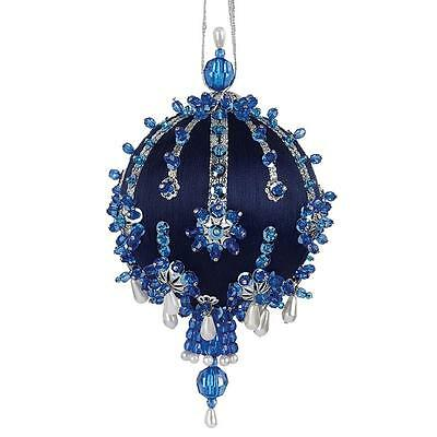 """Kit makes 3 """"Shooting Stars"""" Ornaments Blue silver sequins beads"""