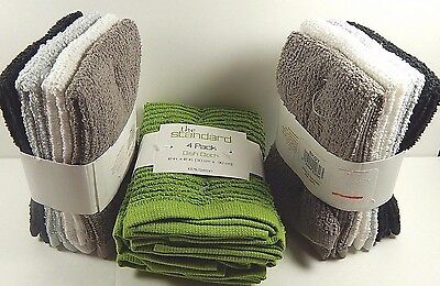 Lot Of 3 Packages Dish Cloths 4 Dish Cloths Per Package New 100% Cotton