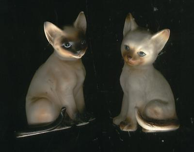 Vintage  LOT / Set of 2  Siamese Cats  LEFTON  Japan H4032  -  CUTE & VERY RARE!