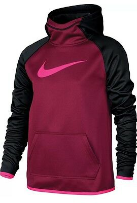 New Girl's Nike Dri-Fit Therma Hoodie Pullover 806016 620 Large NWT