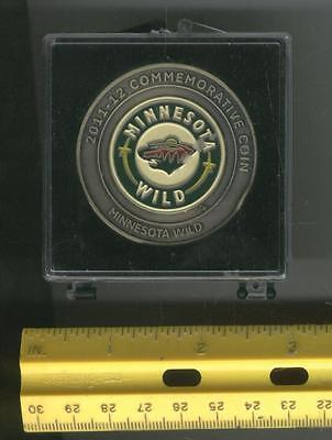 2011 - 12 MINNESOTA WILD NHL Hockey US Coin LICENSED AT&T SERIAL #1856/5000 RARE
