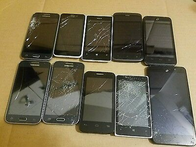 Lot of 10 cell phones