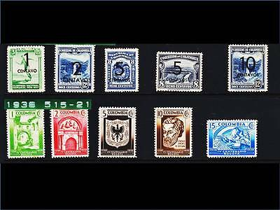 Colombia, Natl. 1938-39 City of Bogota, OP's, New Post office.$$ Mint, MM